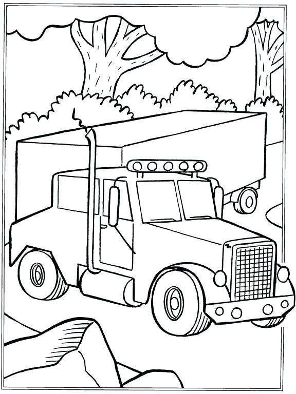 576x768 Printable Truck Coloring Pages Monster Truck Monster Truck
