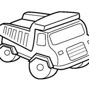 300x300 Tonka Truck Coloring Pages