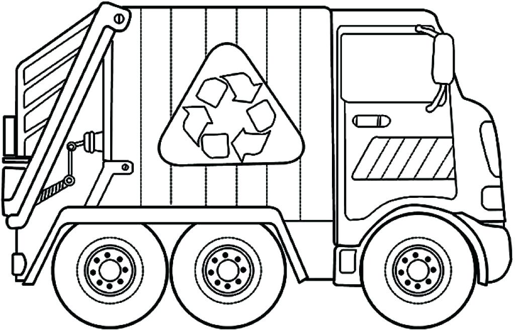 1024x657 Truck Coloring Pages Big Tow Semi Truck Coloring Page Garbage