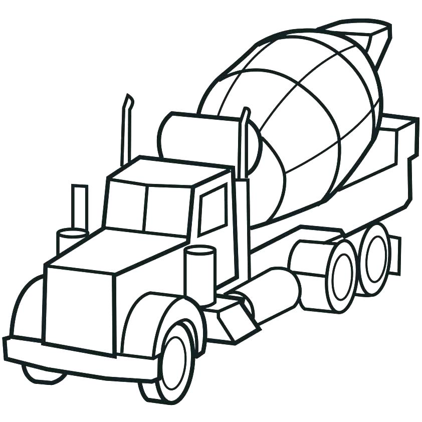 842x842 Truck Coloring Pages Free Coloring Page Truck Wheeler Coloring