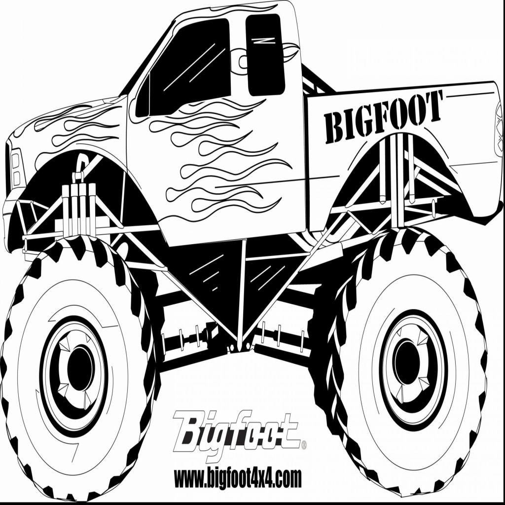 1024x1024 Truck Coloring Pages To Print Fresh Fabulous Monster Truck