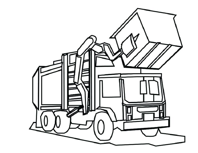 841x650 Dump Truck Coloring Page