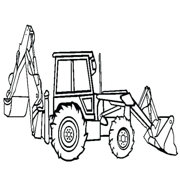 600x612 Tonka Dump Truck Coloring Page