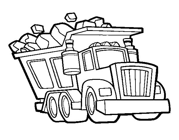 600x470 Dump Truck Coloring Pages