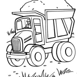 268x268 Dump Truck Coloring Pages Cooloring Tonka Truck Coloring Page
