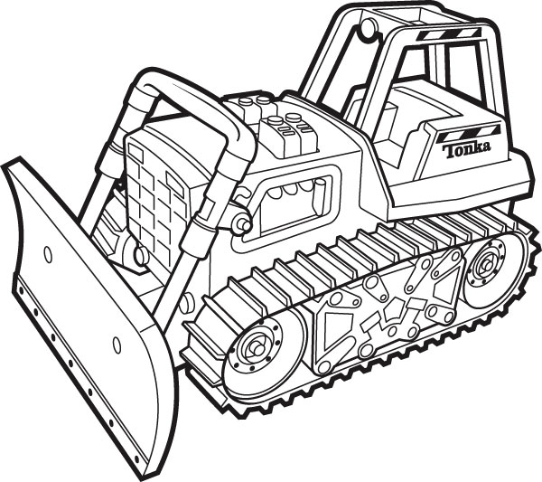 600x533 Excavator Coloring Pages To Print Tonka Coloring Pictures