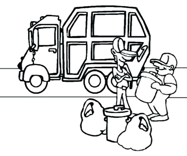 600x500 Old Truck Coloring Pages Coloring Pages Garbage Truck Old Tonka