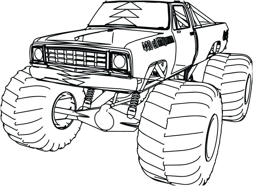 827x609 Old Truck Coloring Pages
