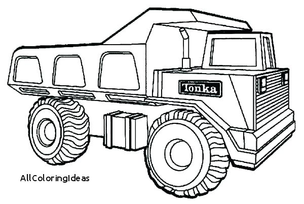 600x402 Tonka Truck Coloring Sheets Big Dump Pages Construction Trucks