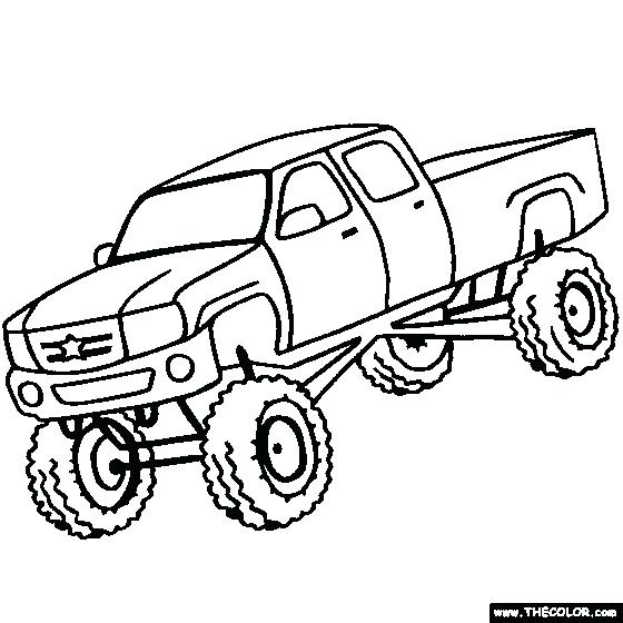 560x560 Truck Coloring Pages Free