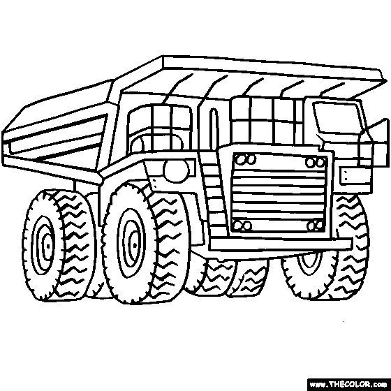 560x560 Digger Colouring Page Tonka Truck Coloring Pages Aa Coloring Pages