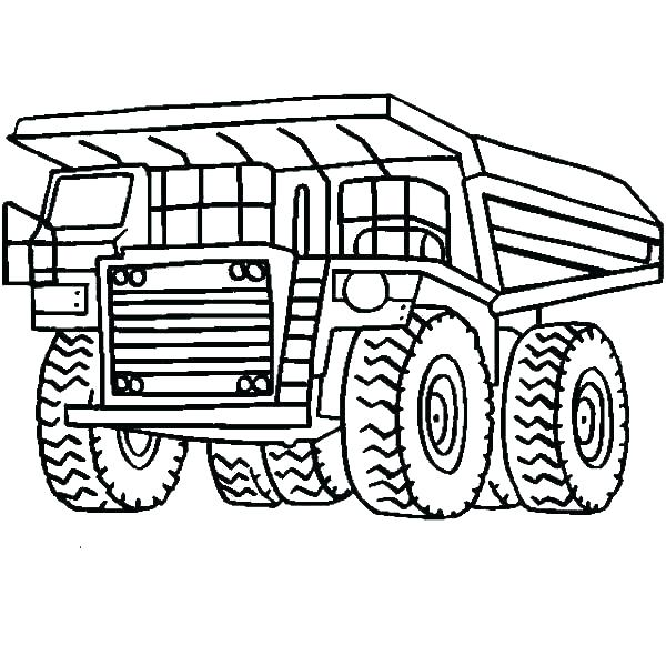 600x600 Dump Truck Coloring Page Coloring Pages Garbage Truck Appealing