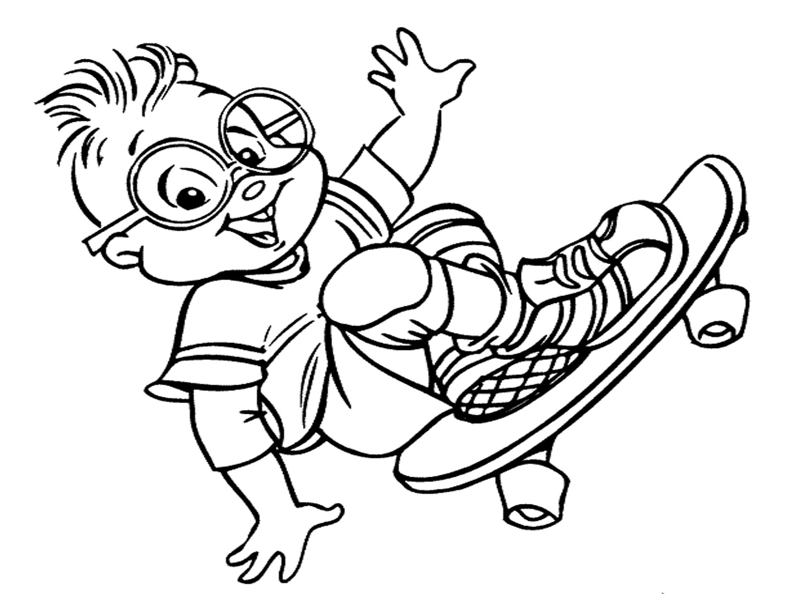 1600x1200 Interesting Skateboarding Coloring Pages Free Printables Tony