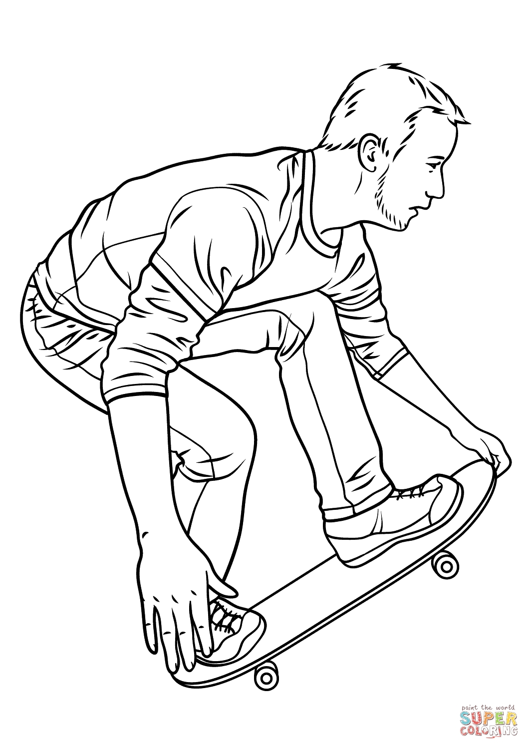 1060x1500 Tony Hawk Coloring Pages Free Coloring For Kids