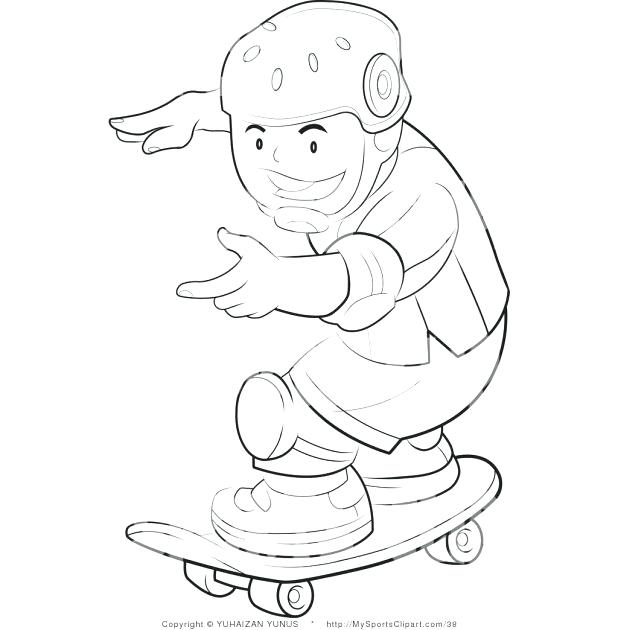 618x630 Tony Hawk Coloring Pages Free With Skateboard Ramp Online