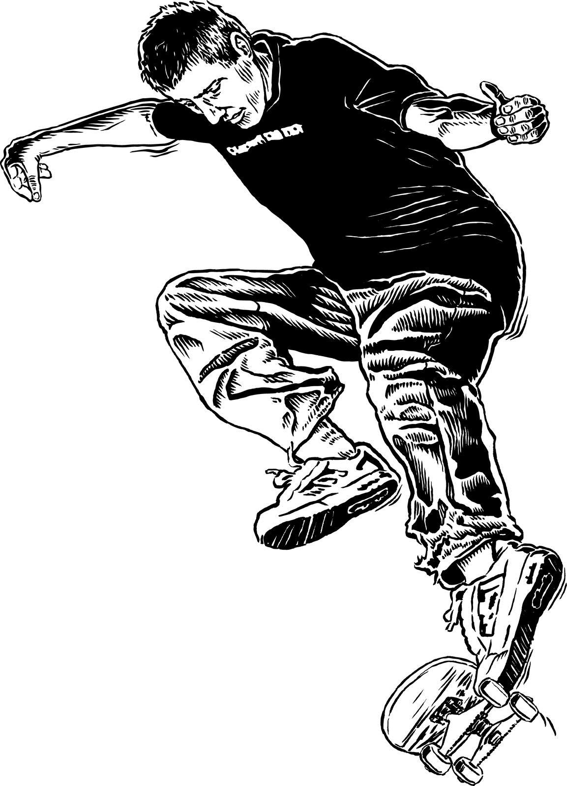 1153x1600 Tony Hawk Drawing