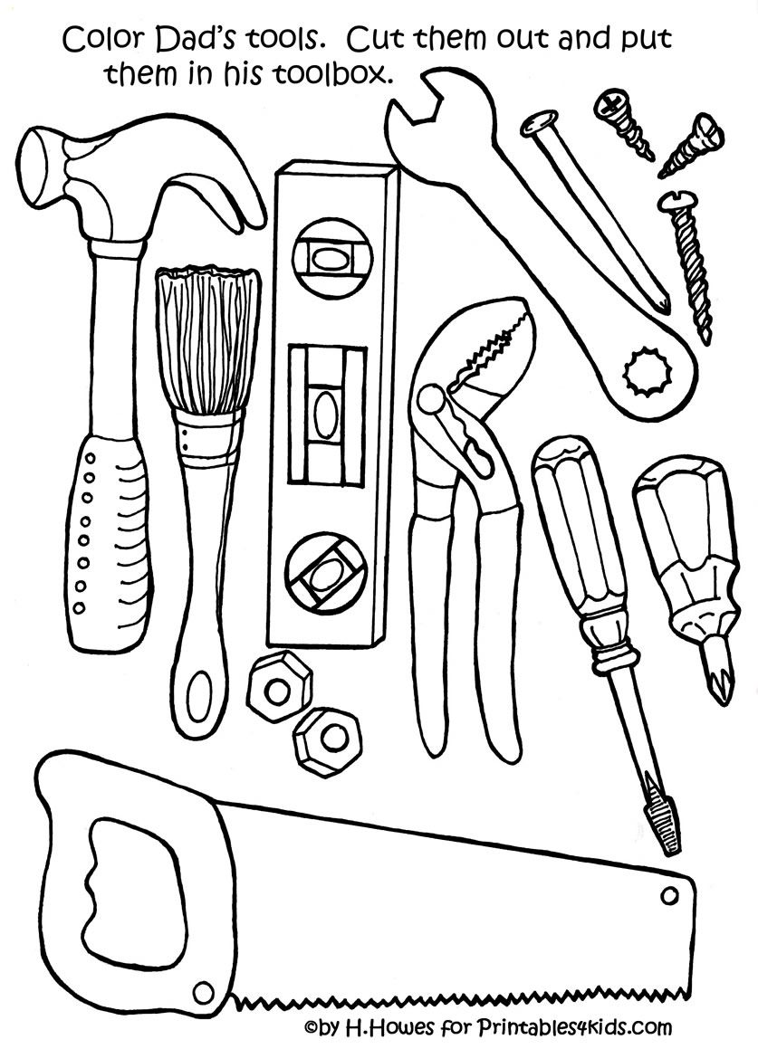 837x1159 Free Print And Color Tools For Father's Day Gift Or Card