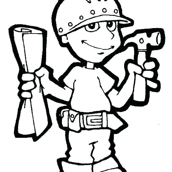 600x600 Tool Coloring Pages Coloring Pages Of Tools Tool Coloring Pages
