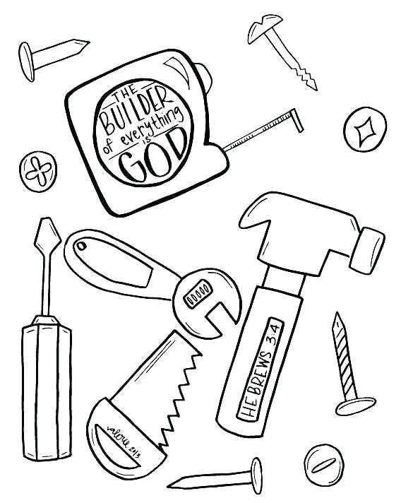 568x712 Tool Coloring Pages Construction Worker Coloring Pages