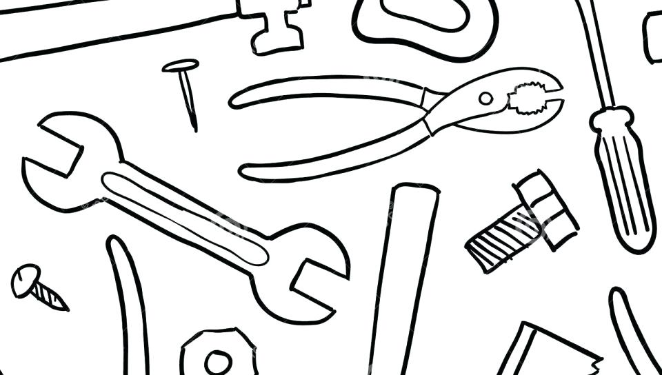 tool coloring pages for kids | CARPENTER coloring pages - Color each tool  coloring page | Coloring pages for kids, Coloring pages, Construction tools | 544x960