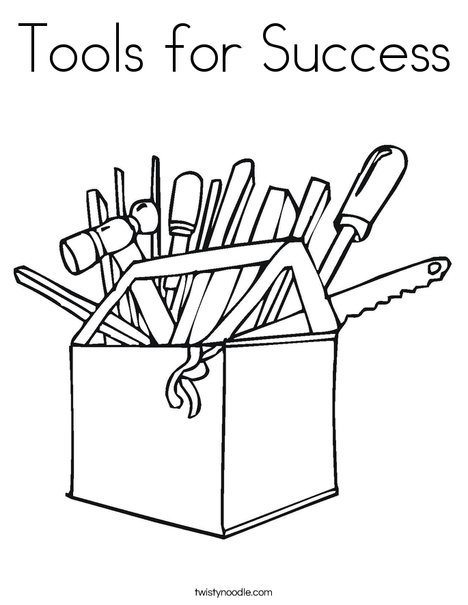 468x605 Tools For Success Coloring Page