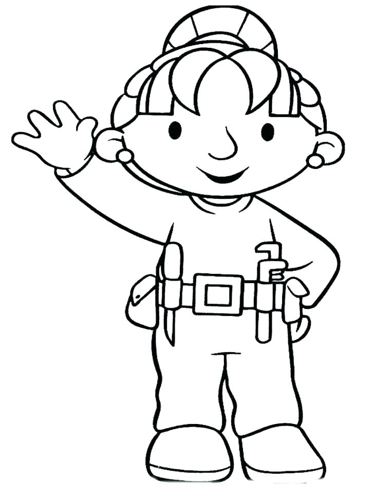 728x971 Construction Worker Coloring Pages Construction Worker Coloring
