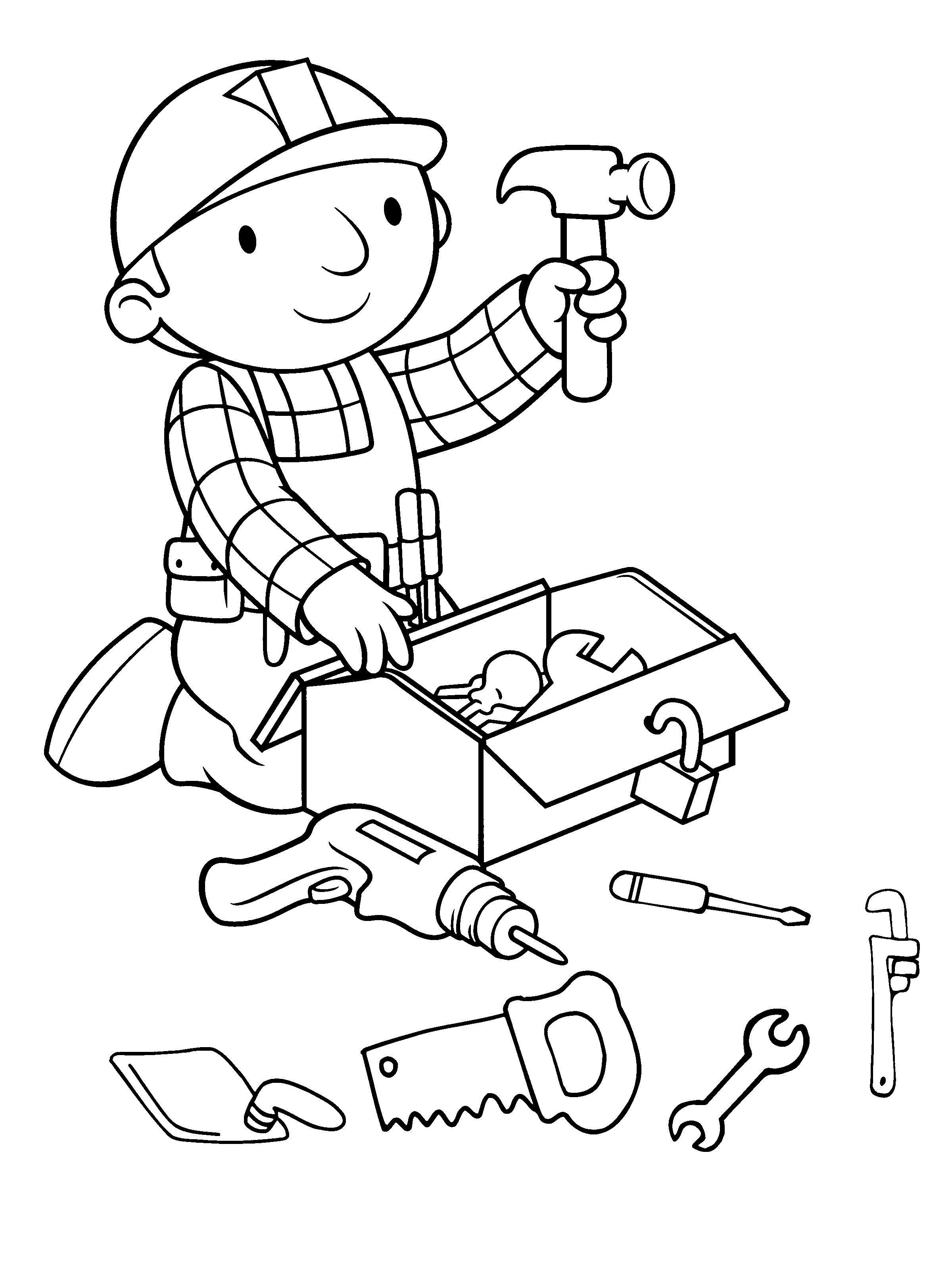 2400x3178 Free Bob The Builder Coloring Pages With Bob The Builder Up