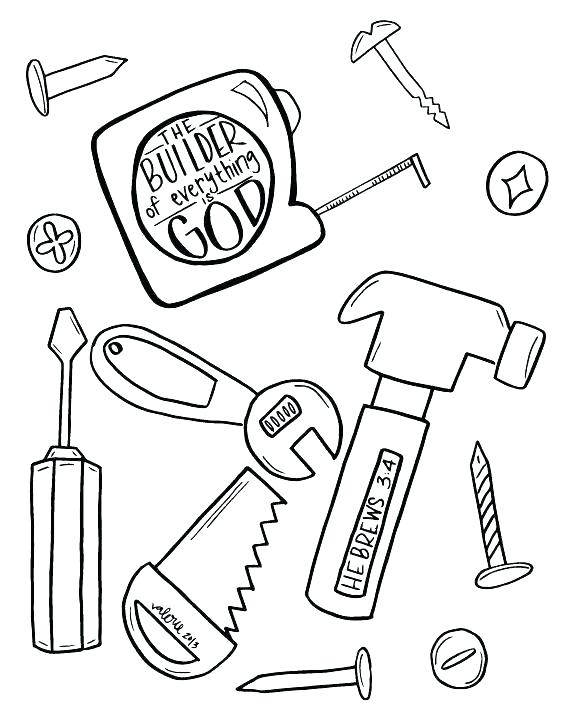 568x712 Box Coloring Page Tool Coloring Pages Amazing Construction Tools