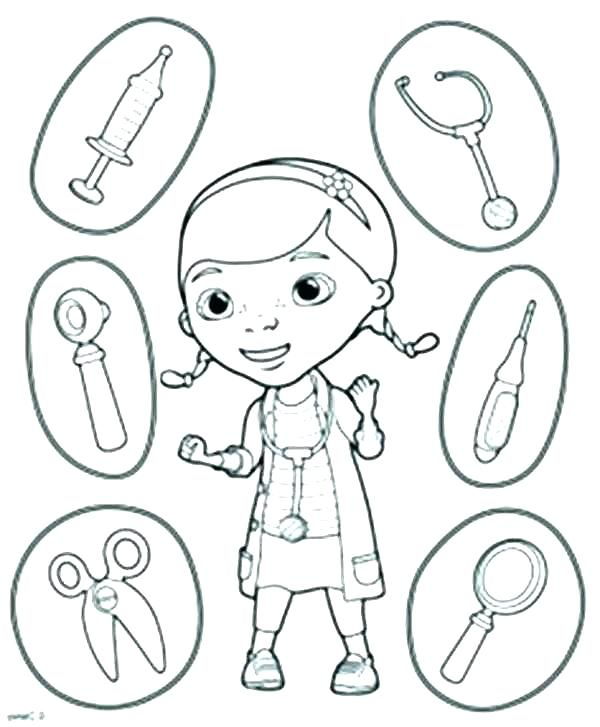 600x727 Tool Coloring Pages Coloring Pages Doctor Tools Coloring Pages