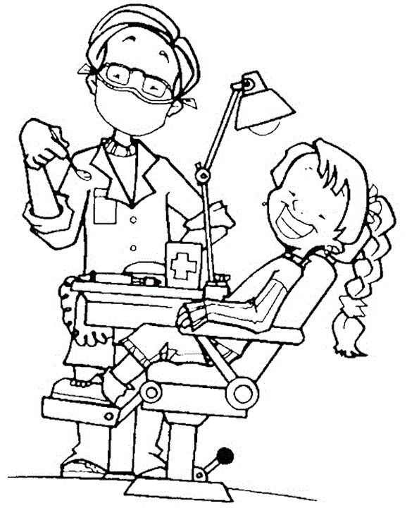 595x720 Dentist Coloring Pages Printable To Tiny Paint