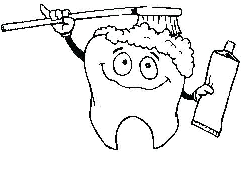 479x359 Teeth Coloring Page Teeth Coloring Pages Preschool Tooth Coloring