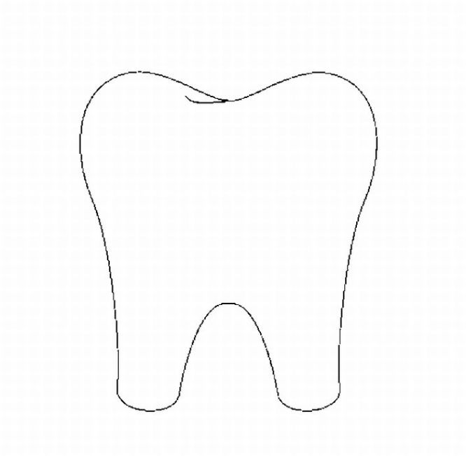 666x652 Teeth Clipart Coloring Page