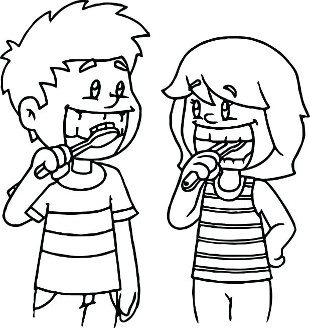 618x652 Tooth Brushing Coloring Pages Tooth Coloring Pages Dental Coloring