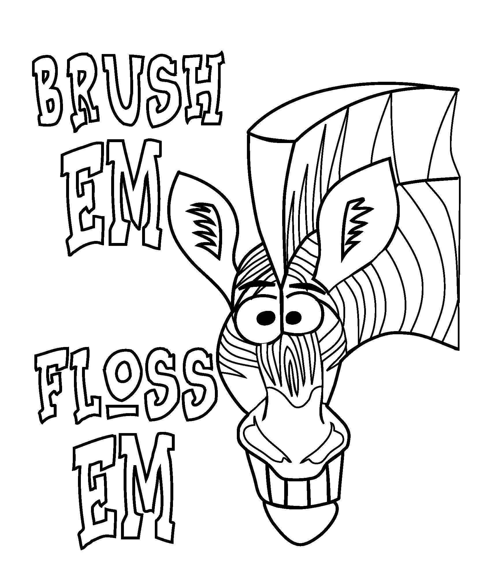 1700x1966 Tooth Coloring Pages
