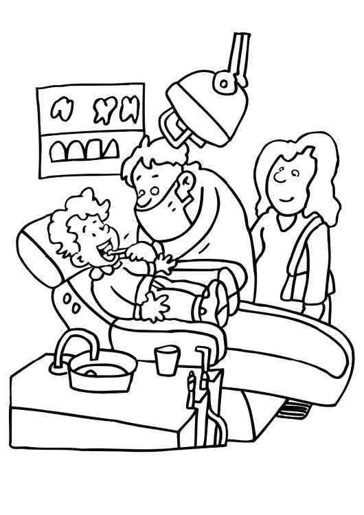 530x750 Tooth Coloring Pages Dent Vintage Dental Health Coloring Pages