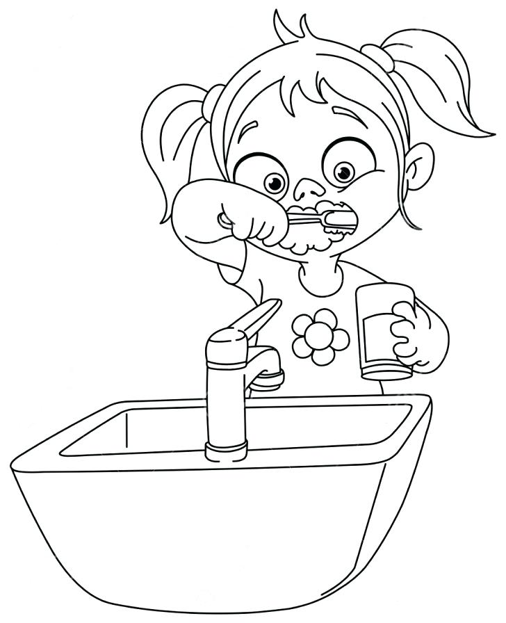 728x896 Brushing Teeth Coloring Pages Tooth Brushing Coloring Pages