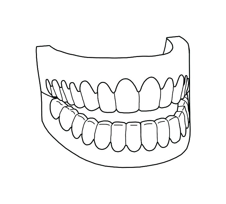 728x655 Tooth Coloring Pages Printable Plus Tooth Dot To Dot Colouring