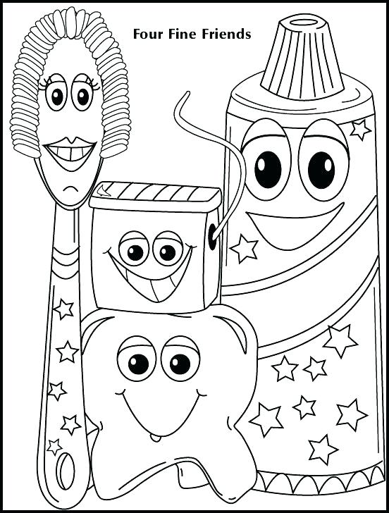 552x728 Free Tooth Coloring Pages Teeth Coloring Page Dentist Coloring