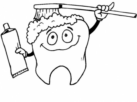468x350 Dental Coloring Pages Free Dental Coloring Pages Tooth Page Teeth