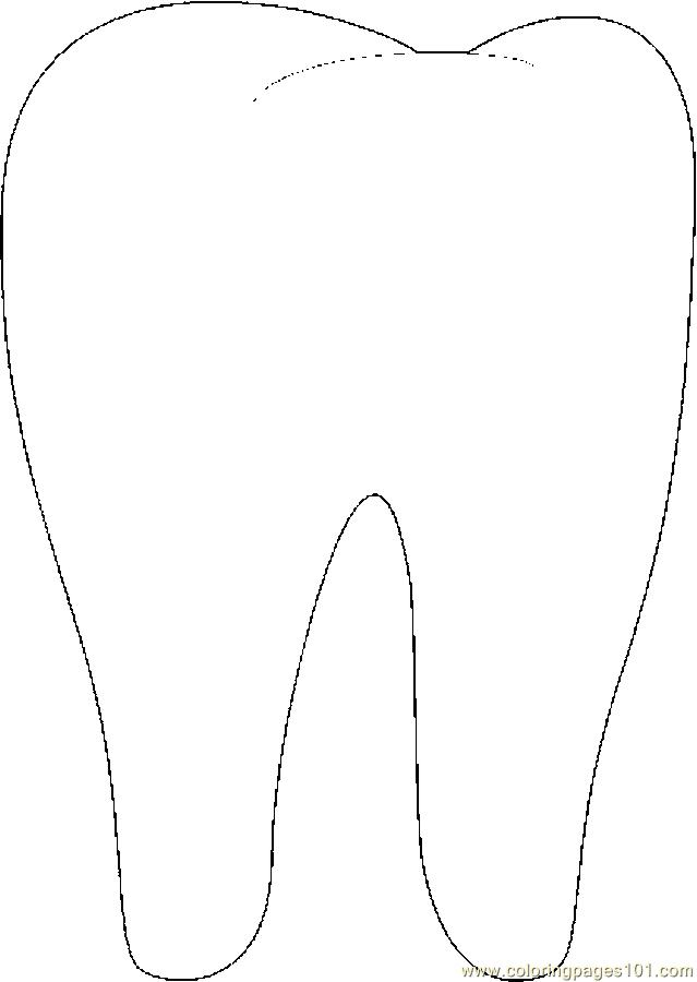 Tooth Coloring Pages Printable