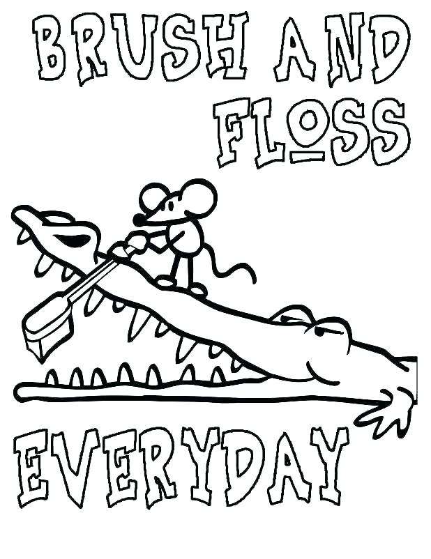 618x802 Teeth Coloring Pages Tooth Brushing Coloring Sheets Dental