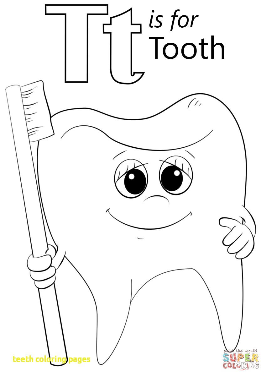 849x1200 Tooth Coloring Pages Printable