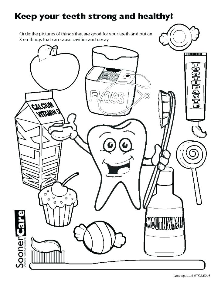 728x932 Coloring Pages Teeth Printable Tooth Fairy Page Drawn Pencil