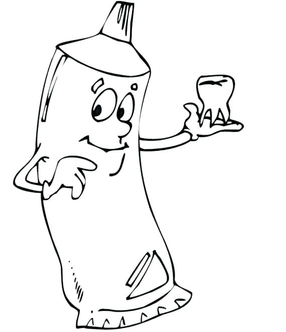570x660 Tooth Coloring Pages Printable