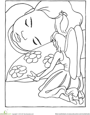 301x383 Tooth Fairy Coloring Page Tooth Fairy, Worksheets And Teeth