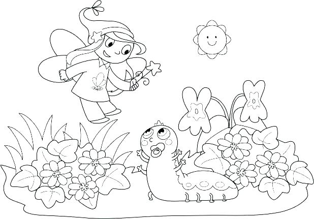 618x431 Baby Fairy Coloring Pages Baby Fairy Coloring Pages Tooth Fairy