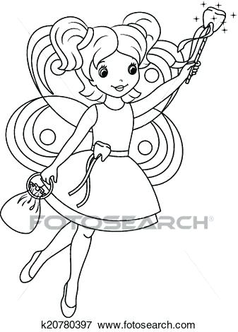 337x470 Tooth Fairy Coloring Page Clip Art Tooth Fairy Coloring Page