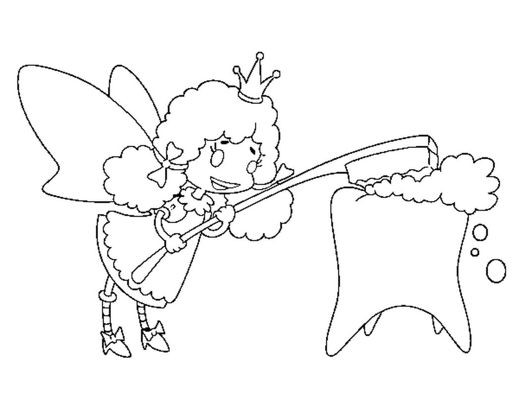 1048x821 Instructive Tooth Fairy Coloring Page Pages Coloringsuite Com