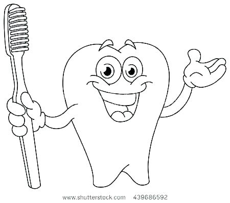 450x398 Teeth Coloring Pages Tooth Coloring Page Tooth Coloring Page Tooth