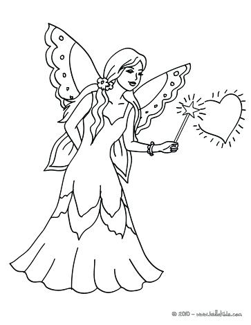 363x470 Fairy Coloring Page Fairy Magic Flying Fairy Magic Wand To Color